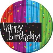 "Creative Converting Milestone Celebrations ""Happy Birthday"" Luncheon Plates, 8/Pack"