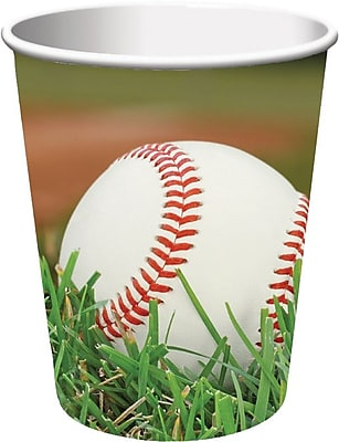 Creative Converting Baseball 9 oz. Hot/Cold Drink Cups, 8/Pack