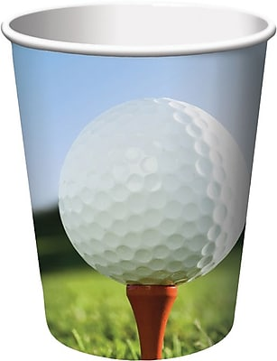 Creative Converting Golf Hot/Cold Drink Cups, 9 oz., 8/Pkg 1005845