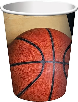Creative Converting Basketball 9 oz. Hot/Cold Drink Cups, 8/Pack