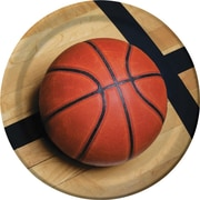 "Creative Converting Basketball 9"" Round Dinner Plates, 8/Pack"
