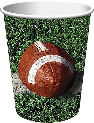 Creative Converting Football Hot/Cold Drink Cups, 9 oz., 8/Pkg 1005861