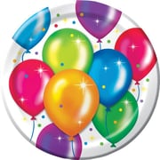"Creative Converting Birthday Balloons 9"" Dinner Plates, 8/Pack"