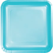 "Creative Converting Pastel Blue 7"" Square Luncheon Plates, 18/Pack"