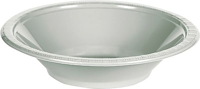 Creative Converting Shimmering Silver 12 oz. Bowls, 20/Pack