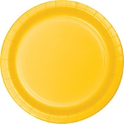 "Creative Converting School Bus Yellow 9"" Round Dinner Plates, 24/Pack"