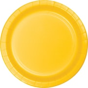"Creative Converting School Bus Yellow 7"" Round Luncheon Plates, 24/Pack"