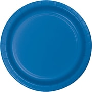 "Creative Converting True Blue 7"" Round Luncheon Plates, 24/Pack"
