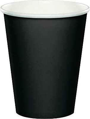 Creative Converting Black Velvet Hot/Cold Drink Cups,