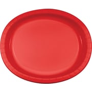 Creative Converting Classic Red Oval Platters, 8/Pack
