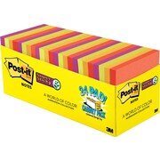 """Post-it® Super Sticky Notes, 3"""" x 3"""", Marrakesh Collection, 24 Pads/Cabinet Pack (654-24SSAN-CP)"""