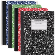 "Staples® Composition Notebook, College Ruled, Assorted Colors, 9-3/4"" x 7-1/2"", Each (25536M)"