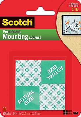 Scotch® Permanent Heavy Duty Mounting Squares, 1
