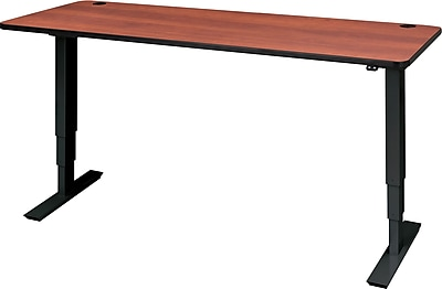 Safco 72'' Standard Sit & Stand Desk, Cherry/Black (1963CYBL)