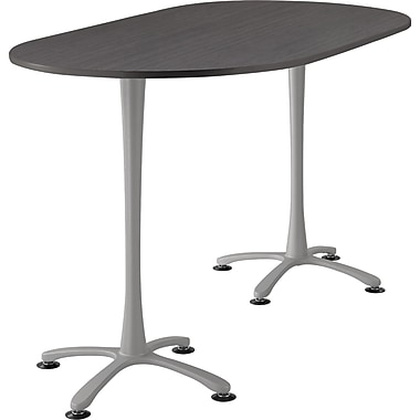 Safco Cha Cha 72'' Standard Sit & Stand Desk, Silver (2552ANSL)