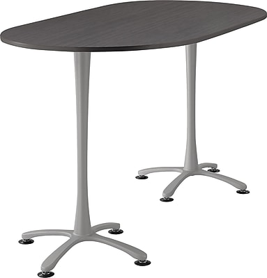 Safco Cha Cha 72'' Standard Sit & Stand Desk, Silver (2552ANSL)