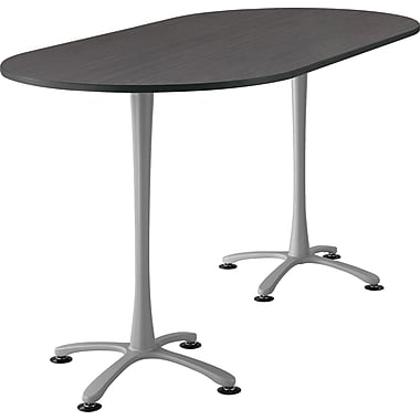 Cha Cha Standing Table Asian Night Top Silver Base, Assorted Sizes