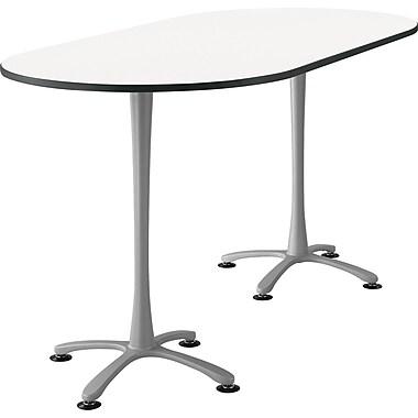 Safco Cha Cha 82'' Standard Sit & Stand Desk, White/Silver (2553DWSL)