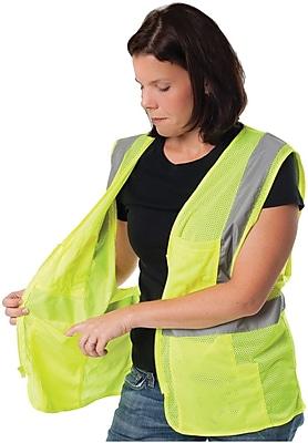 PIP 2-Pocket Zipper Mesh Safety Vest, Orange, XL