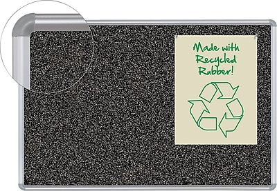 Balt 3'W x 2'H Rubber-Tak Silver Frame Bulletin Board with Presidential Trim 321PB