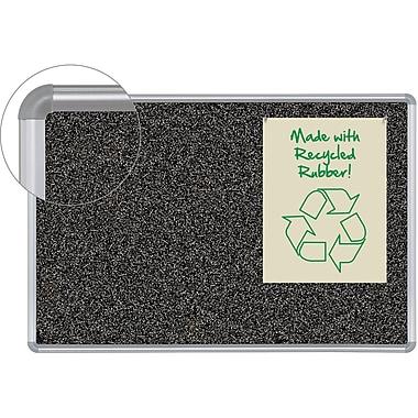Balt 4' x 3' Rubber-Tak Silver Frame Bulletin Board with Presidential Trim 321PC