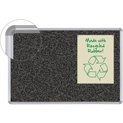 Balt 6'W x 4'H Rubber-Tak Silver Frame Bulletin Board with Presidential Trim 321PG