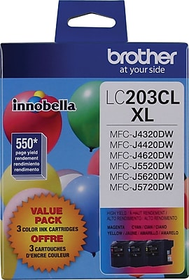 Brother Genuine LC2033PKS Cyan, Magenta, Yellow High Yield Original Ink Cartridges Multi-pack (3 cart per pack)