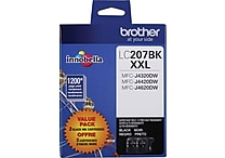 Brother Ink Cartridge, Black, Super High Yield, 2/Pack (LC2072PKS)