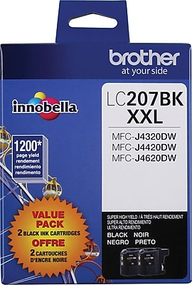 Brother (LC2072PKS) Black Ink Cartridge, High Yield, 2/pack