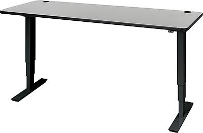 Safco 72'' Standard Sit & Stand Desk, Gray/Black (1963GRBL)