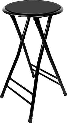 Trademark Home Collection 24 Inch Cushioned Folding Stool