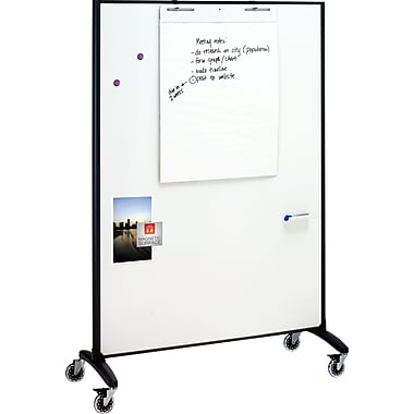 Quartet® Motion™ Room Divider DuraMax® Porcelain Whiteboard, 4' x 6'