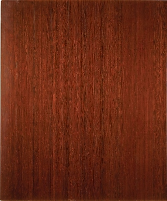Anji Mountain Deluxe Roll-Up 42''x48'' Bamboo Chair Mat for Carpet & Hard Floor, Rectangular, Dark Cherry (AMB24035W)