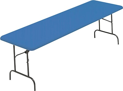 IndestrucTable TOO Folding Table,1200 Series - Blue - 30 x 96