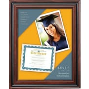 "Document Frame, 8.5"" x 11"", Rosewood/Black"