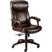 Staples Elkerton Bonded Leather Managers Chair, Brown