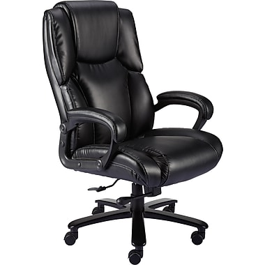 L Staples Glenvar Big U0026 Tall Chair Bonded Leather Black Seat 215