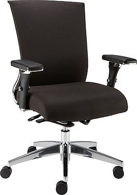 Staples Professional Series 1100TF Fabric Back Task Chair, Black