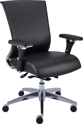 Staples Professional Series 1100TL Bonded Leather Back Task Chair, Black