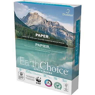 Domtar EarthChoice® FSC-Certified Copy Paper, 20 lb., 8-1/2