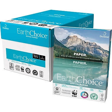 Domtar - Papier à copies EarthChoice® certifié FSC, 20 lb, 8 1/2 po x 11 po,