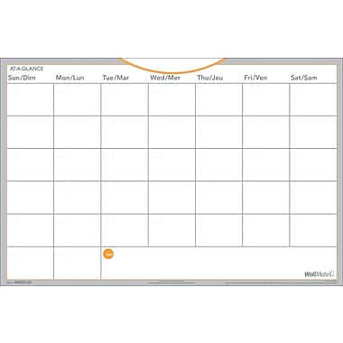AT-A-GLANCE® WallMates™ Dry-Erase Monthly and Writing Surface, 12
