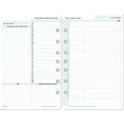 "Day-Timer® Undated Organizer Desk Size Refills, 2 Pages/Day, 5-1/2"" x 8-1/2"", Bilingual"