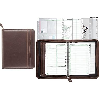 Daytimer® – Planificateur en simili cuir Sienna, 5,5 po x 8,5 po