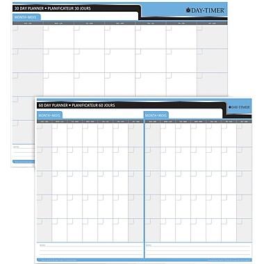 Day-Timer – Planificateur souple réversible 30/60 jours, 23 po x 30 po