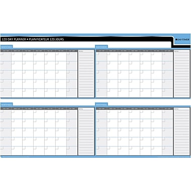 Day-Timer 90/120 Day Reversible Flexible Planner, 24