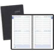Staples® – Agenda quotidien sans dates à reliure spiralée, 8 po x 5 po, bilingue