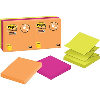 Post-it® Super Sticky Pop-up Notes, Rio de Janeiro Collection, 3