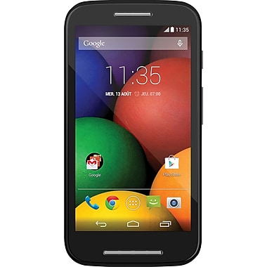 Motorola Refurbished MOTO E Smartphone, 4GB, Unlocked, Black (2024DQ)