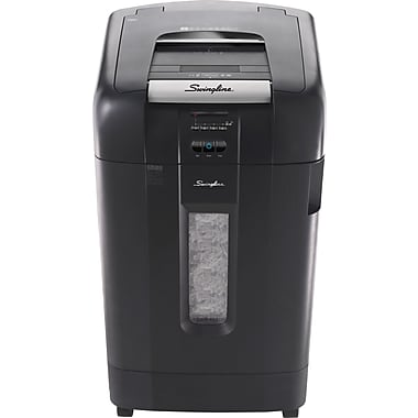 Swingline® Stack-and-Shred™ 750X, 1757578, 750 Sheets, Super Cross-Cut, Auto Feed Shredder, Black